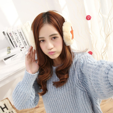 Women Faux Fur Earmuff Headphones Big Winter Headband Ear Muff Plush Headphones Furly Candy Leather Star Fashion Ear Warmers
