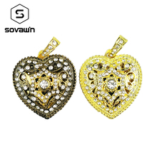 Sovawin Gold Heart Jewelry Metal Cute Usb 2.0 Flash Drive Mini Disk Memory Stick 64 gb 32 gb 16gb Lovely Gift