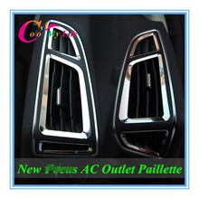 6Pcs/Set Stainless Steel Air Conditioning Vent Sequins Air Conditioner Vents Sticker for Ford Focus 3 4 2012 2013 2014 2015 2016