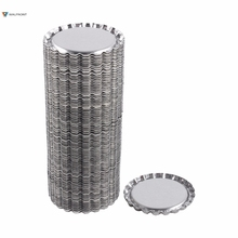100pcs Flat 1 inch Silver Tinplate Flattened Bottle Caps For DIY Crafts Without Hole Coffee Bar Wall Decor Home Decoration
