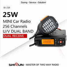 Baojie BJ-218 Dual Band Mobile Radio Transceiver 20/25W Long Range Car Walkie Talkie Mini Ham CB Radio Station Police Equipment(China)