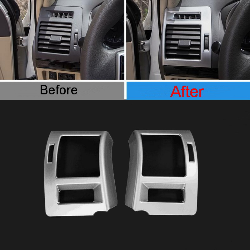 2 PCS DIY Car Styling ABS Outlet on Both Sides of Dashboard Light Cover Case Stickers for Toyota Prado 2014-16 Parts Accessories<br><br>Aliexpress