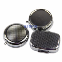 Travel Silver Metal Pill Box Medicine Organizer Container Jewellery Case(China)