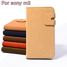 Top Selling New Design Phone Cases Shell For Sony Xperia M2 S50H D2303 D2305 D2306 Luxury Business Flip Leather Holster Shell