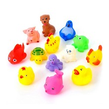 New Arrival Cute Lovely Mixed Colorful Can Float On Water And Sound Funny Bath Toys 13 Pcs A Set(China)