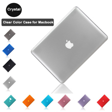 Laptop Case for Macbook Clear Crystal Shell Case for Apple Macbook Air 13.3 A1369 A1466 with screen film+keyboard skin 3in1
