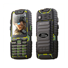 Anti slip rubber Shockproof Dustproof dual sim flashlight big key power bank long standby army outdoor rugged mobile phone P497