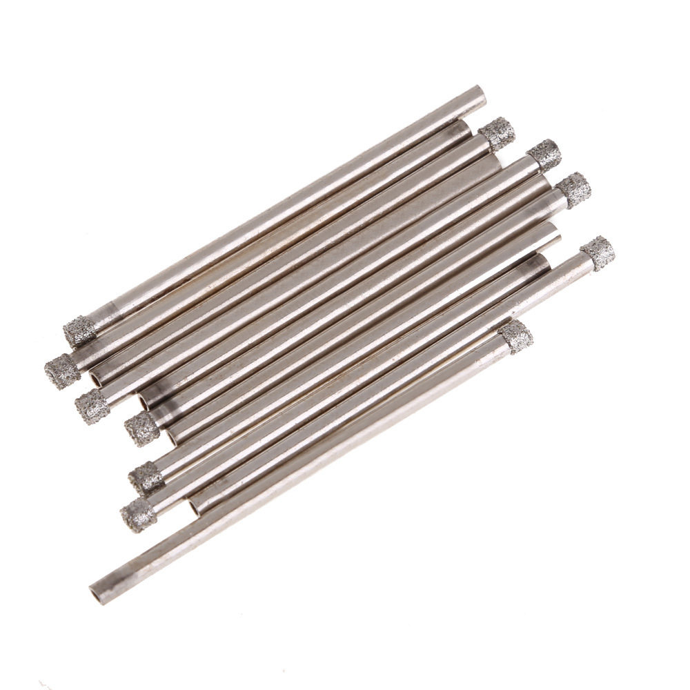 High Quality 10 pieces 3mm Diamond Coated Drill Bit Set Hole Saw Core drills For  Glass Marble Tile NG4S<br><br>Aliexpress