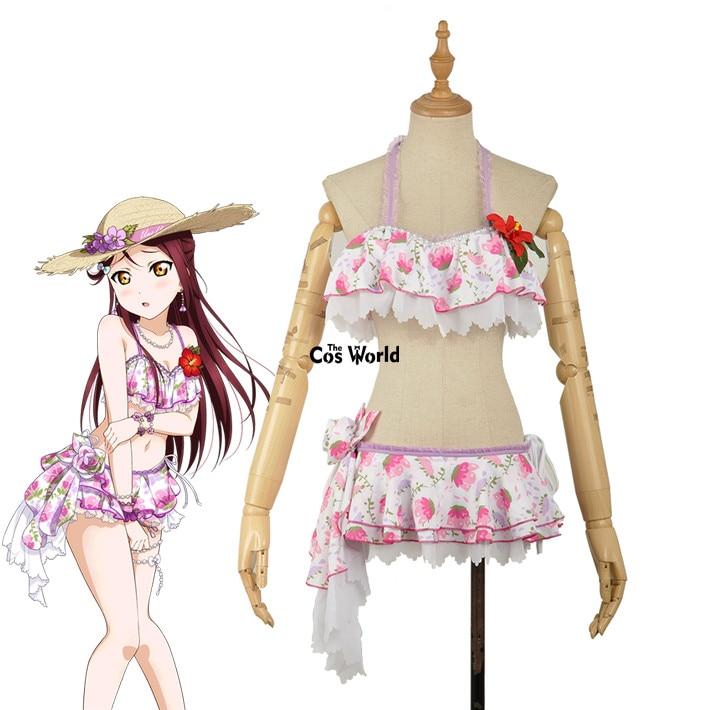 Aqours Sakurauchi Riko Bikini Swimsuit Swimwear Cosplay Lovelive!Sunshine