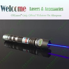 oxlasers OX-BX6 new 1000mw -2000mw 445nm-450nm focusable burning blue laser pointer  with metal case FREE SHIPPING