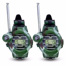 Buy New 2Pcs LCD Radio 100M Watches Walkie Talkie 7 1 Children Watch Radio Outdoor Interphone Toy Camo Walkie Talkie ArmyGreen for $8.89 in AliExpress store
