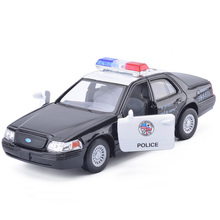 High Quality 1:42 FORD CROWN Victoria Police Diecast Alloy Car Model with Pull Back Toy Vichle For Kids Gift Toys Free Shipping
