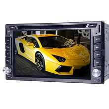 universal Car Radio Double 2 din Car DVD Player GPS Navigation In dash Car PC Stereo Head Unit video+Free Map+Free Cam! SWC DVBT