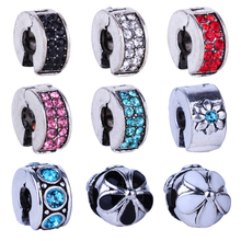 Multi-Color Clips Locks Stoppers Charms Beads European DIY Beads Fit Original Pandora Charms Bracelets Fashion Jewelry for Women
