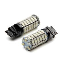 Car Electronics Accessories 1PC 120LED 3157 Dual Colors Amber / White Switchback LED Lamps 12 V 20000 working hours(China)