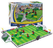 On Stock Hot Sale Christmas gift World Cup Euro Football Game Sports Building Block Educational Toys for Kids Compatible with(China)