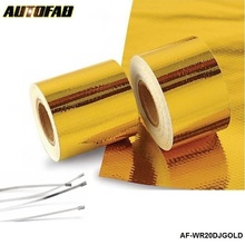 "AUTOFAB 2""x5 Meter Reflect-A-Gold Tape Performance Heat Protection Tape/Barrier New Arrival Best For Honda civic AF-WR20DJGOLD(China)"
