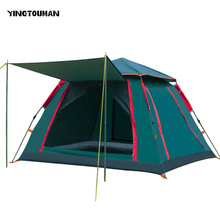 YINGTOUMAN Outdoor 3-5 Person Big Family Tent Camping Hiking Tent Camping Accessories Quick Automatic Opening(China)