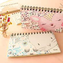 Cute Animal Schedule Book Weekly Plan Coil Spiral Notebook Diary Book Planner Notebook School Office Supplies Kawaii Stationery(China)