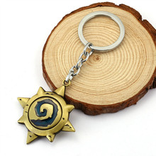 Fashion 3D Hearthstone Keychains Heroes Of Key Chains Ring Top Grade Best Friend Vintage Metal Keychain For Fans(China)
