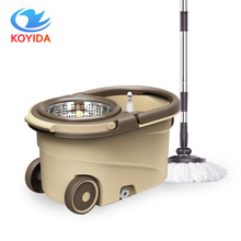 KOYIDA Household Spin Magic Mop Bucket Double Drive Stainless Steel Hand Pressure Rotating With Head Household Cleaning Set