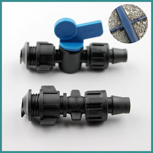 NuoNuoWell By-Pass Connector Valve 5pcs-pack For Soft Pipe 16MM Irrigation Drip Tape Line With Camlock(China)