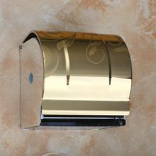 Modern Bathroom Accessories Golden Polished Surface Stainless Steel CZJ5113 Toilet Paper Holder Paper Box Wall Mounted