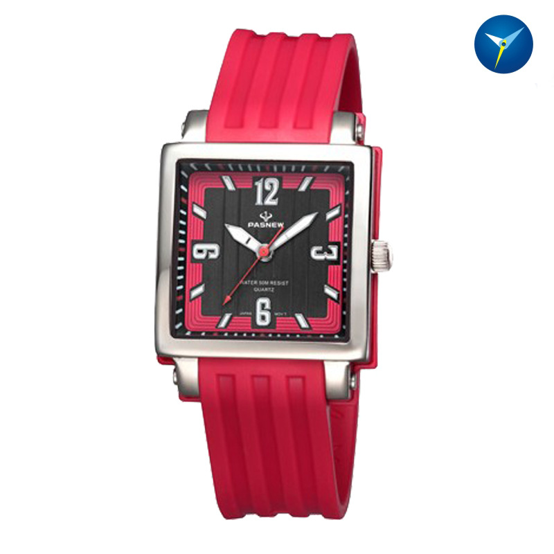 Fashion womens quartz watches casual square waterproof ladies student girls clocks rubber female wristwatches pasnew PSE-417<br>