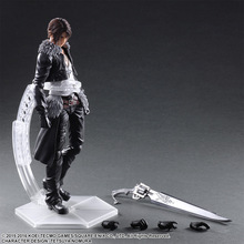 XINDUPLAN Play Arts Kai Final Fantasy VIII Squall Leonhart Square Enix Gunblade Action Figure Toys 26cm Gifts Collect Model 0924