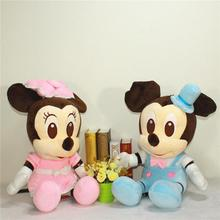 Cute Big 50cm/60cm Mickey Mouse & Minnie Mouse Plush Toys Stuffed Cartoon Anime Dolls Children Baby Stuffed Doll For Kids Gifts