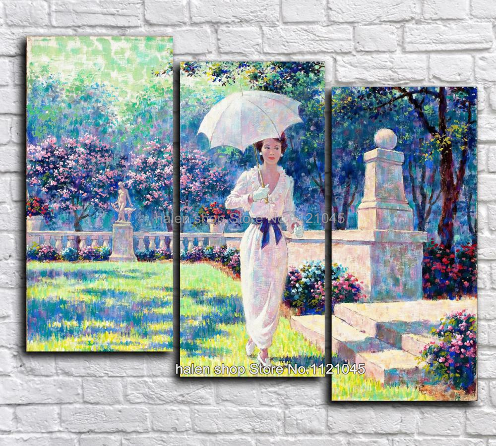 Diamond Embroidery Diamond Mosaic Square Diy Diamond Painting Cross Stitch Needlework Home Decor Umbrellas beauty triptych DF542(China)