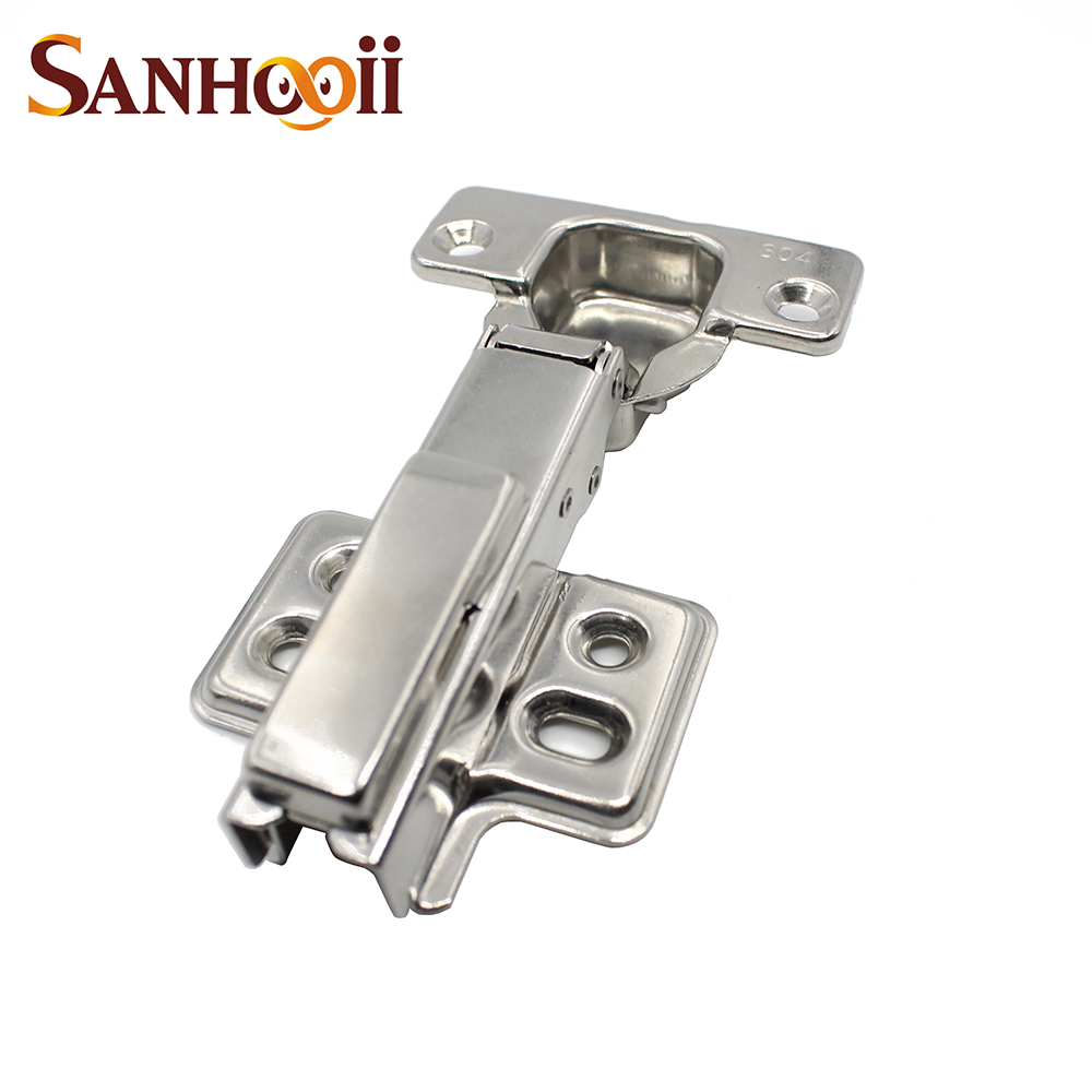Sanhooii High Quality 304 Stainless Steel Door Hydraulic Hinges Damper Buffer Soft Close For Cabinet Cupboard Furniture Hardware(China (Mainland))