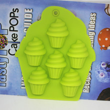Wholesale/retail,free shipping,5 hole Mini ice cream clay cake mold / silicone  chocolate mould   FM