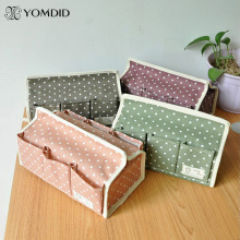Fluid storage tissue pumping Household Fabric Tissue Box Polka Dot six pocket pumping tray(China)