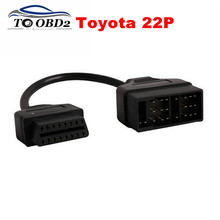 For Toyota 22Pin to OBDII 16Pin Female Connector Adapter Cable DLC Lead Fits Toyota 22 Pin Female to OBD2 16 Pin Free Shipping