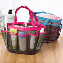 Travel Handle Shower Caddy Tote Carry Bag Bathroom Stuff Organizer Camping Quick Dry Tote Carry Handle