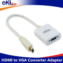 EKL Top Sale HDMI to VGA Converter Adapter HDMI Cable for PC Computer Desktop Laptop Tablet Full HD 1080P HDTV Monitor