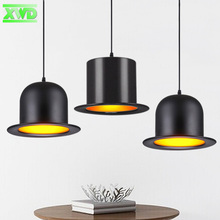 Modern Aluminum Black Hat Shape Parlor Pendant Lamp E27 Lamp Holder Dining Room/Coffee House Indoor Lighting Free Shipping