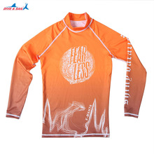 Men's UV Sun Protection UPF 50+ Crew Neck Skins Rash Guard Long Sleeve Swimwear Top Swimming Surfing Snorkeling kayaking Suit