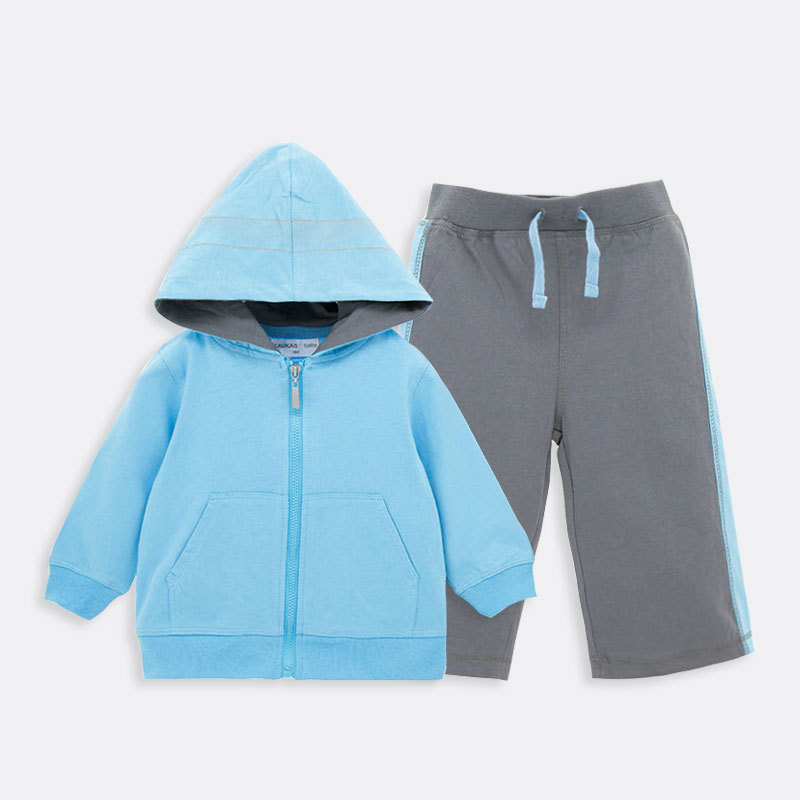 Hot Sale Cotton Baby Boy Gym Suit Hooded Kid Baby Boy Sport sets YL137<br>