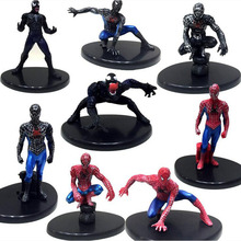 8PCS/set The avengers Action Figure 8CM PVC Spider man Toy Crazy Toys Marvel The Amazing Spider man Brinquedos WJ441