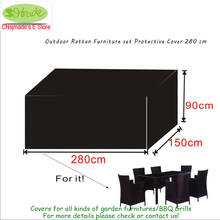 Outdoor Rattan Furniture set Protective Cover 280x150x90cm,waterproofed/ dust proofed cover,Chair cover(China)