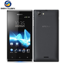 "Original Sony Xperia J ST26i mobile phone 5MP 4.0"" 3G WIFI GPS 4GB ROM Unlocked Sony ST26i cell phone Free Shipping"