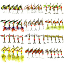 Buy 5PCS/Set Spinner Spoon Fishing Lure Spinner Bait Metal Hard Minnow Lure isca artificial fishing wobbler Tackle for $3.03 in AliExpress store