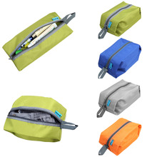 4 Colors Portable 600D Waterproof Nylon Hook Travel Pouch Shoe Wash Bag Zipper Toiletry Makeup Sports Gym Storage Bag Organizer(China)