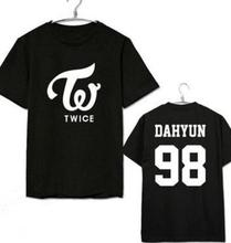 VXO TWICE MOMO DAHYUN Album Shirts K-POP Casual Cotton Clothes T Shirt Short Sleeve Tops T-shirt
