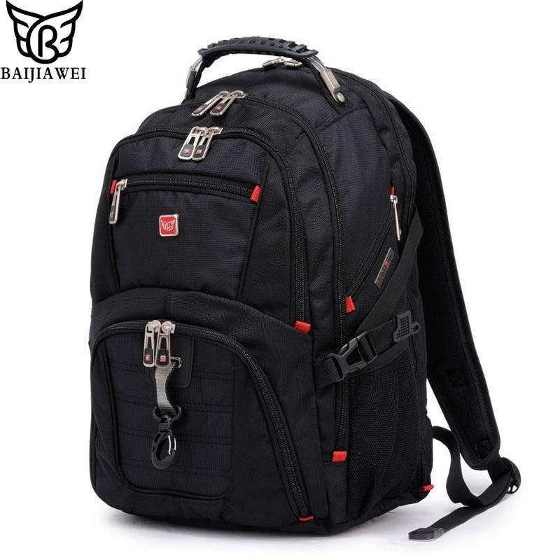 BAIJIAWEI 2017 New 15 Laptop Backpack Large Capacity Backpack Mochilas Bagpack Men Casual Travel Bags Packsack Waterproof Bags <br>