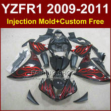 Red flame Motorcycle parts for YAMAHA fairings YZF R1 09 10 11 12 R1 bodywork YZF1000 R1 +7Gifts Injection YZF R1 2009 2010 2011