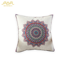 ROMORUS Bohemian Cushion Cover Thick Linen Square Pillow Case on Sofa Bed Car Decoration Cushion Covers Best Quality Pillowcases(China)