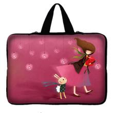 "15"" 15.6"" Girl Laptop Sleeve Case Bag Cover For HP DELL ASUS Toshiba Acer Sony Notebook Case For macbook Pro 15.4-inch(China)"